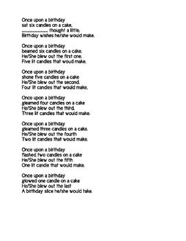 Once Upon a Birthday Poem