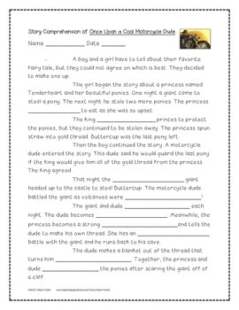Once Upon a Cool Motorcycle Dude 4th Grade Journeys Unit 2, Lesson 6 (2011)