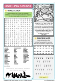 Once Upon a Puzzle Activity Sheet, CHRISTMAS NATIVITY (A4-SIZE, UK English)