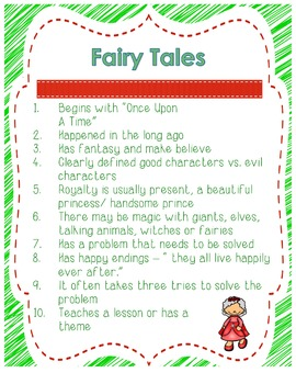 Once Upon a Time- A Fairy Tale Resource Packet