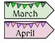 Once Upon a Time Castles and Dragons Decor Calendar Months