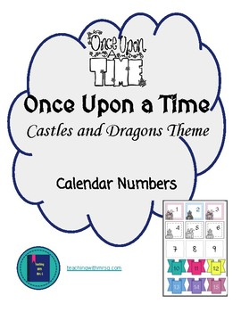 Once Upon a Time Castles and Dragons Decor Calendar Numbers