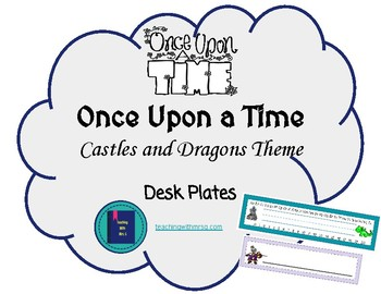 Once Upon a Time Castles and Dragons Decor Name Tags or Plates