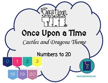 Once Upon a Time Castles and Dragons Numbers to 20 Poster