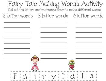 Once Upon a Time Fairy Tale Learning Packet Part 2