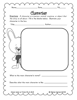 Once Upon a Time: Using the Plot Diagram for Story Elements {CCSS: RL.2-6.3}