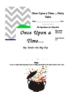 Once Upon a Time...A Fairy Tale Elemants Chart