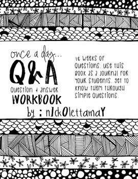 Once a Day Question and Answer Student Journals