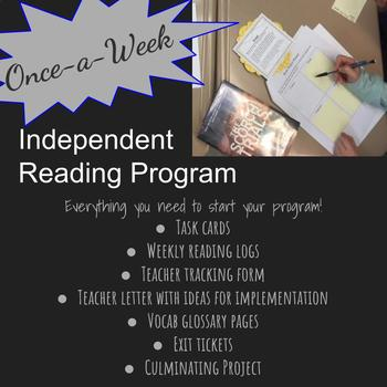 #springbackin  Once-a-Week Independent Reading Bundle Exit