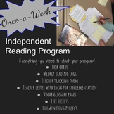 Once-a-Week Independent Reading Bundle Exit ticket task cards