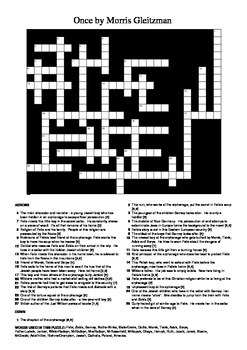 Once by Morris Gleitzman - Crossword Puzzle