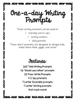 One A Day Writing Prompts