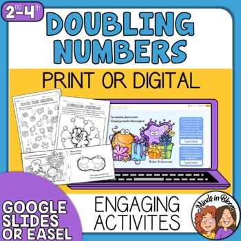 Doubling Numbers Activities using Fun Rhyming Ebook Distance Learning