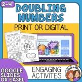 Doubling Numbers Activities using Fun Rhyming Ebook Distan