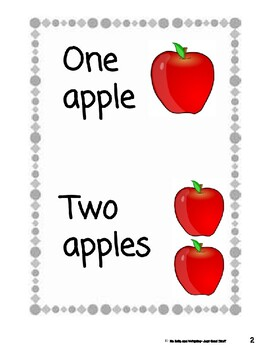 One Apple, Two Apples- Informational Text (level 1-2)