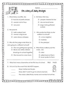 One Book, Seven Standards ~ The Story of Ruby Bridges