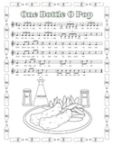 """One Bottle O' Pop"" Printable Song Sheet"