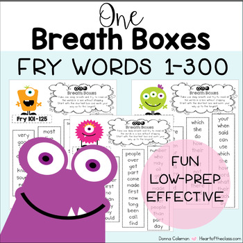 One Breath Boxes - Fry Words 1-1000 {BUNDLE}