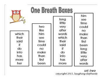 One Breath Boxes Gr. 1 & 2 Owls