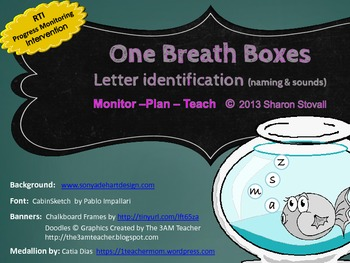RTI One Breath Boxes - Letter / Sound Identification