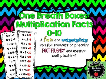 One Breath Boxes Multiplication Facts 0-10