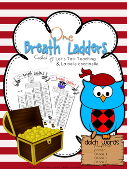One Breath Ladders: Dolch Words