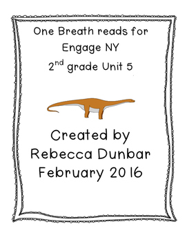 One Breath Reads for Engage NY 2nd grade Unit 5