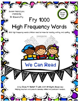 One Breath Words - Fry 1000 High Frequency Words