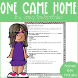 One Came Home Quick Comprehension Quiz Checks