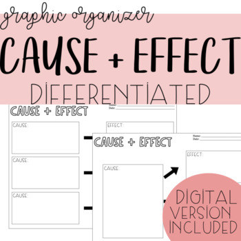 One Cause, Multiple Effects Graphic Organizer (differentiated)