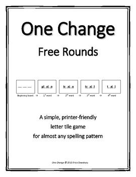 One Change Letter Tile Game