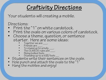 One Character Education Crafitivity and Extension