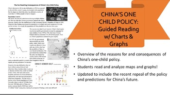 One-Child Policy Reading, Charts, & Questions
