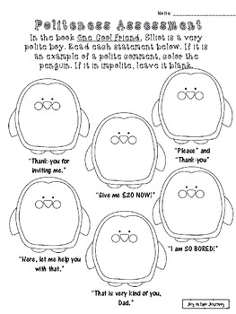 """One Cool Friend"" Activity Packet"