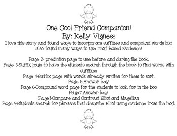 One Cool Friend Teaching Companion (Penguin Book) Compound Words Suffixes