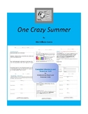 One Crazy Summer Complete Literature and Grammar Unit