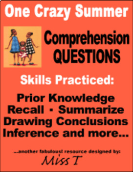One Crazy Summer -- Comprehension Questions