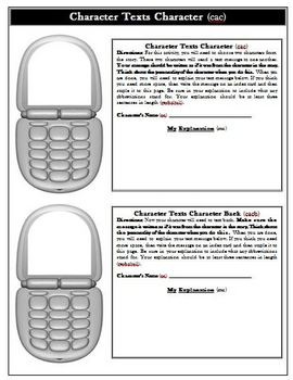 One Crazy Summer Creative Text Messaging Activity Cell Phones
