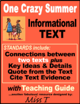 One Crazy Summer - Informational Text