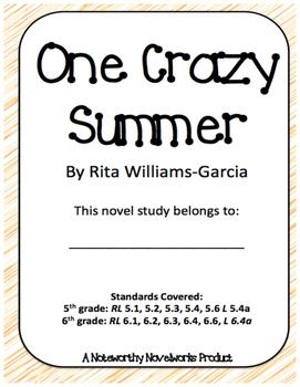 One Crazy Summer by Rita Williams-Garcia Novel Study / Key