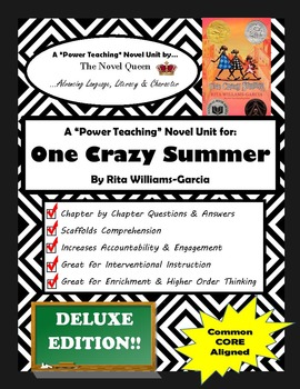 One Crazy Summer Novel Unit--Deluxe Edition