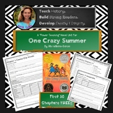 One Crazy Summer Novel Unit Free