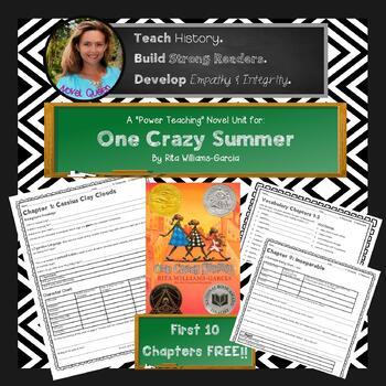 One Crazy Summer Novel Unit Free