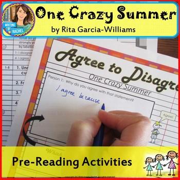 One Crazy Summer-- Pre-Reading Activities