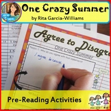 One Crazy Summer-- Pre-Reading Activities