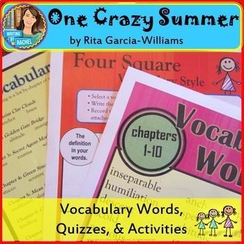 One Crazy Summer- Vocabulary Activities