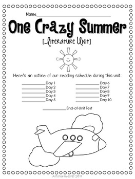 One Crazy Summer by Rita Williams-Garcia lit study