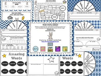 One Dark Night Spelling and Vocabulary Games