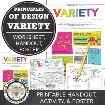 One Day Art Project: Principles of Design Variety Art Activity