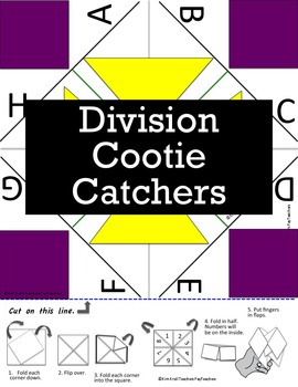 Division Cootie Catcher (2-12)